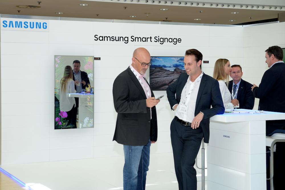 Smart Signage war Thema am Stand von Samsung