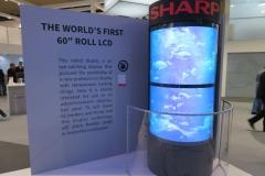 """Das weltweit erste 60"""" Roll-LCD - hoffentlich bald auch in Serie verfügbar (Foto: invidis)"""