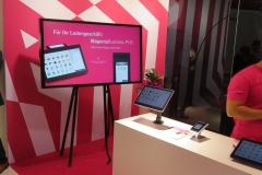 """Auch die Telekom setzt auf den Trend """"POS-Tablets"""" als Ersatz für große Kassensysteme (Foto: invidis)"""
