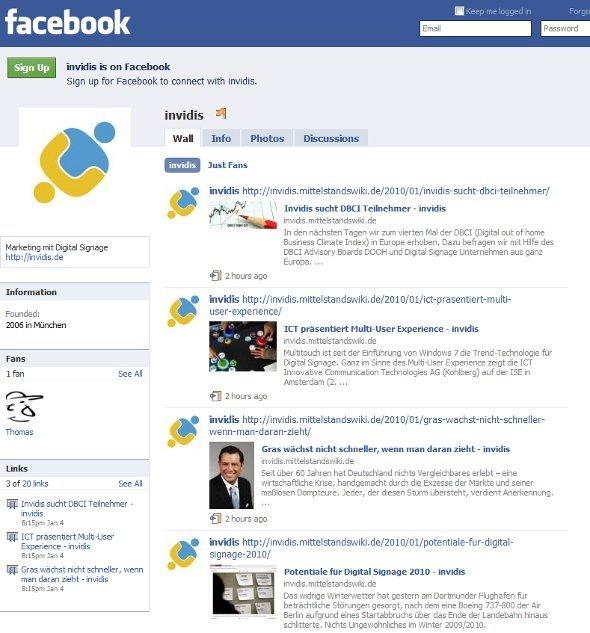 Invidis News jetzt auch bei Facebook