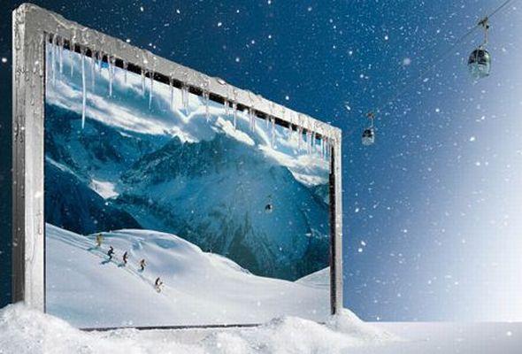 Outdoor-Displays und Projektoren auf dem Sanyo Stand zur ISE.