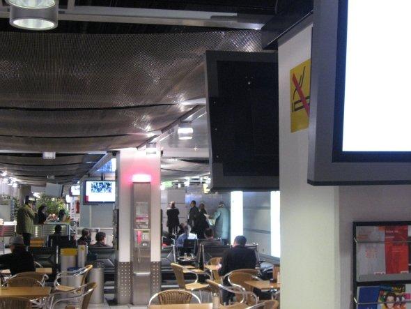 Flughafennetzwerk der Telekom out of Home in Düsseldorf.