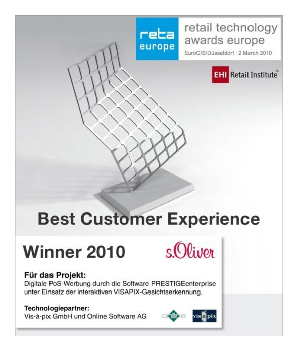 sOliver reta europe award