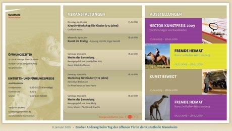 Kunsthall Mannheim Info-Display