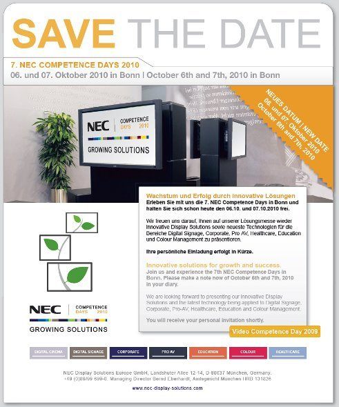 NEC Competence Days 2010