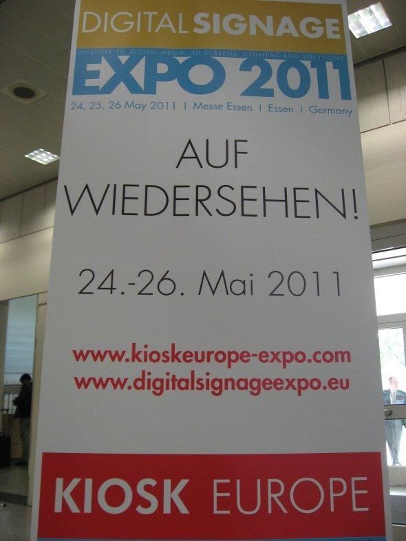 Essen Messe Kiosk Digital Signage