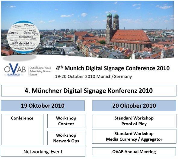 4. Münchner Digital Signage Konferenz 19./20. Oktober 2010