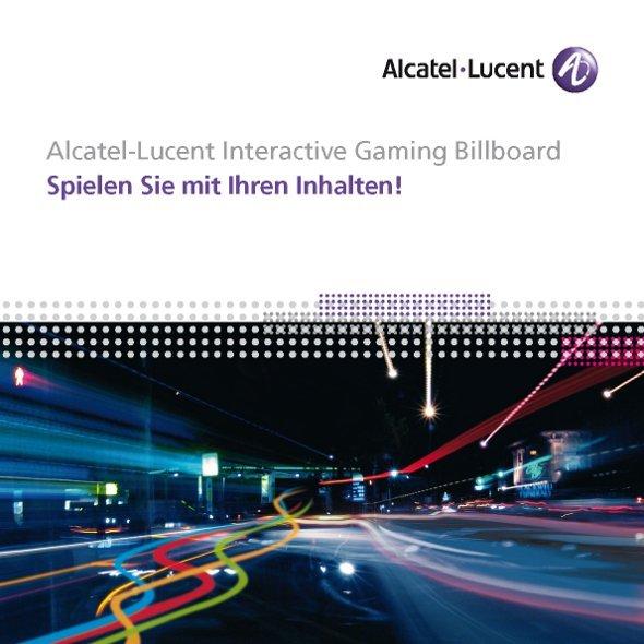 Alcatel Lucent Interactive Gaming Billboard