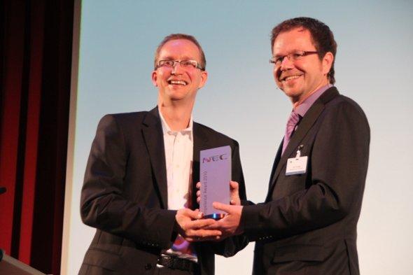 NEC Competence Award 2010 - Stefan Knoke (Seen Media) und Lutz Hardge (NEC)