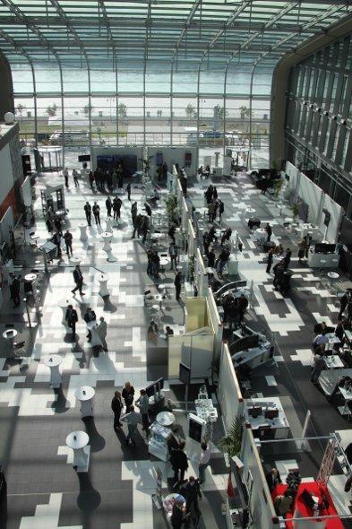 2500m² Ausstellungsbereich der NEC Competence Days