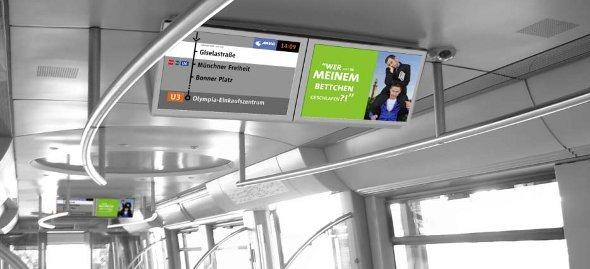 MVG Fahrgast TV vor dem Start