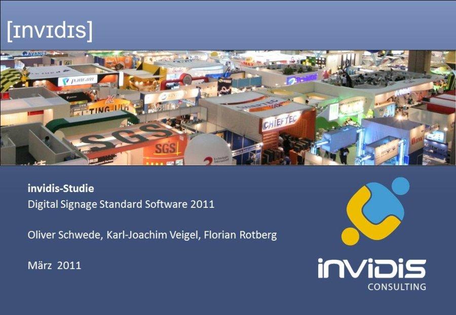 invidis Digital Signage Standard Software Studie 2011