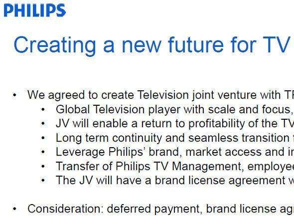 TPV übernimmt auch Philips TV Sparte