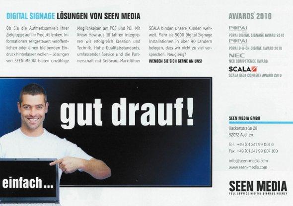 Seen Media Anzeige in W&V