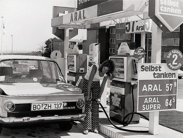 Aral Signage in den 70er Jahren (Foto:Aral)