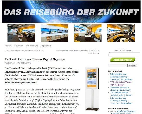 FTI/TVG Schaufenster Stele