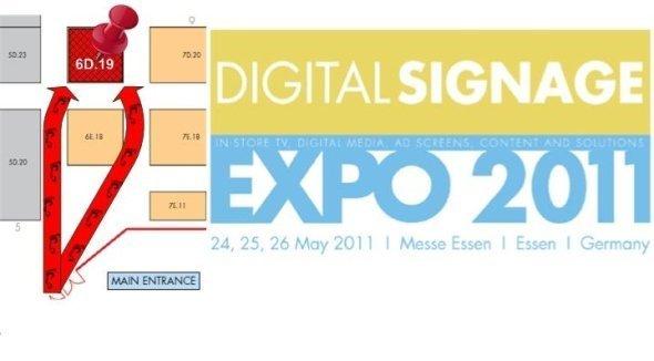 Stinova mit Partnern auf der Digital Signage Expo in Essen