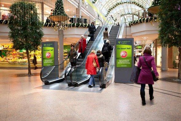Erste Ströer Outdoor Channel Stelen in ECE Malls