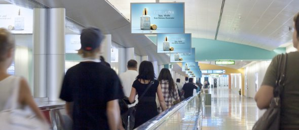JC Decaux launched Digital Corridor at Dubai Airport (Photo: JCD)