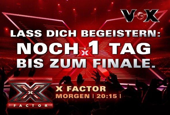 Dynamischer X Factor Countdown auf digitaler Außenwerbung