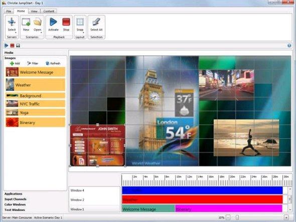 Screenshot: Christie Digital Jump Start