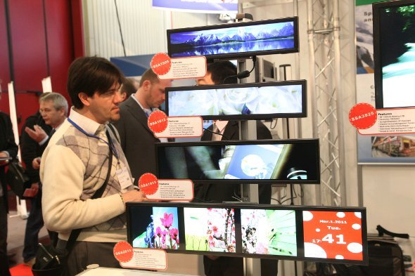 Embedded World: Integrierte PCs und Open Frame Displays