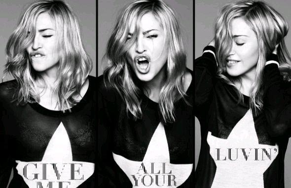 Mit Billboard- und Display-Werbung an die Chartspitze: Madonnas aktuelle Single (Foto: Madonna.com)