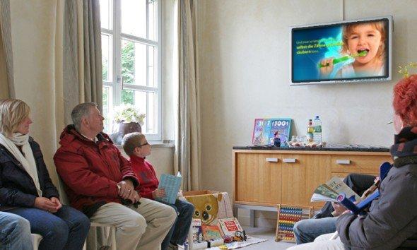 TV Wartezimmer: Gesunde Kinderzähne Kampagne