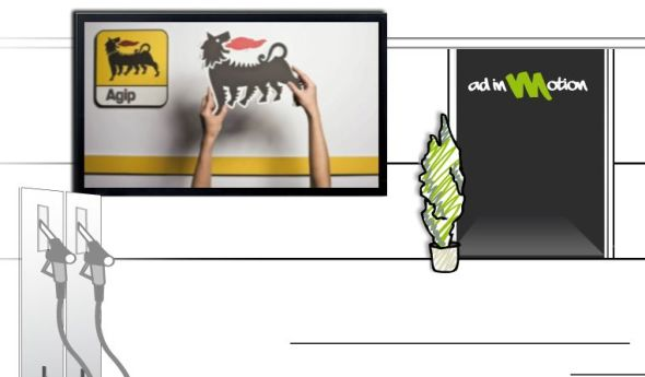 Aus Agip wird Eni - und nun auch mit Digital Signage