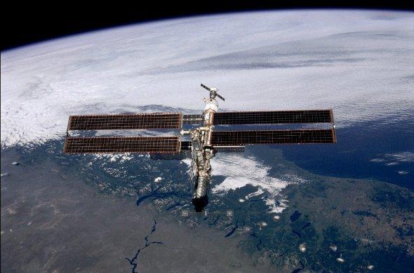 Live von der ISS - Eröffnung der CeBIT (Foto:NASA)