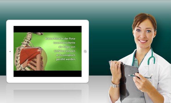 TV Wartezimmer - Display und iPad