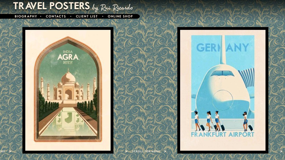 Travel Poster im Werbestil der 50er und 60er