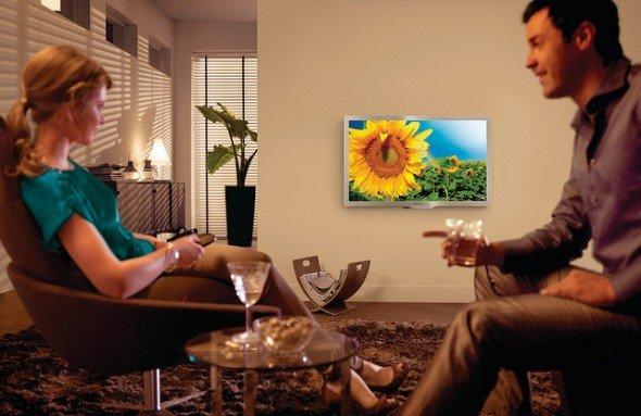 Steigender Absatz bei Flachbild-Fernsehern wie dem Econova 46PFL6806K (Foto: Philips)