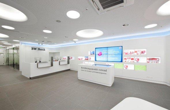 Die neue BW-Bank-Filiale: Menüführung wie beim Smartphone, Filialausstattung wie im Fashion-Store