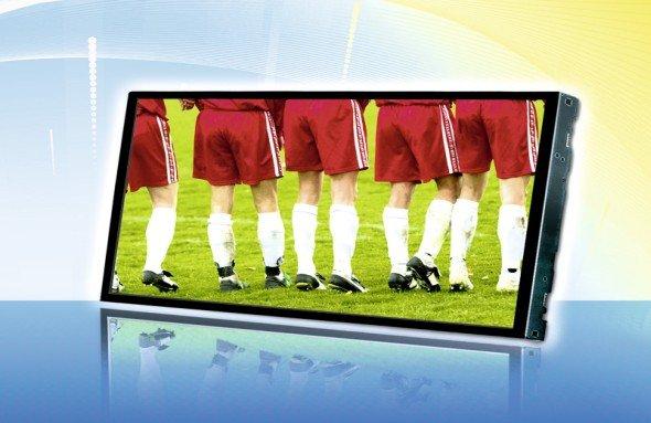 LGs neues Display LD101WX1 mit LVDS-Schnittstelle (Foto: HY-LINE)