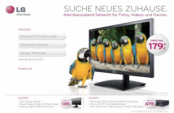 Out of Home-Werbung in eigener Sache: Motiv der LG-Kapagne (Foto: LG)