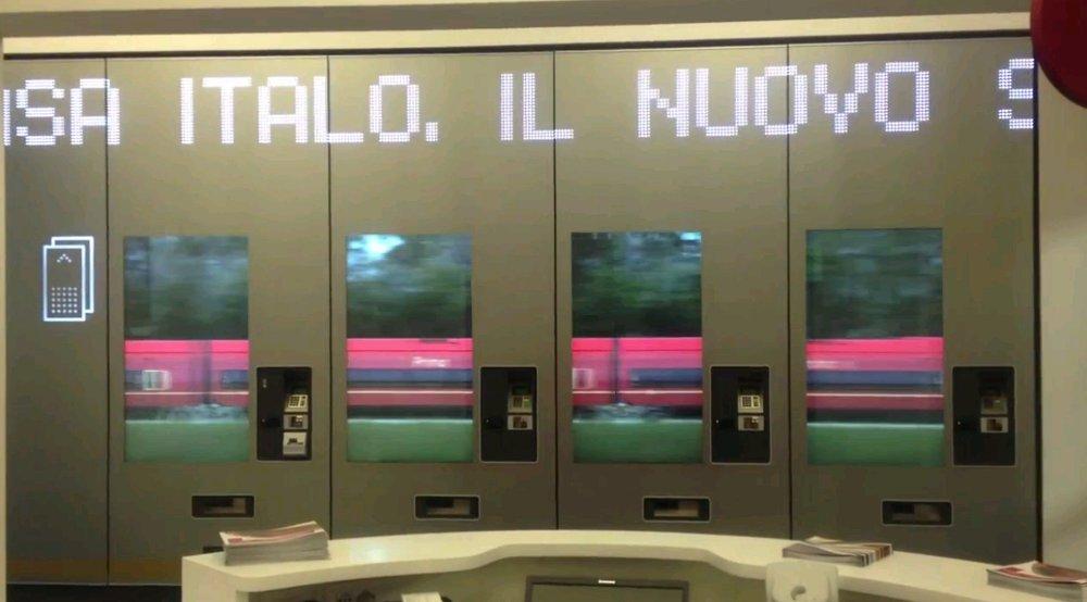 Casa Italo: Fahrkartenautomat meets Digital Signage