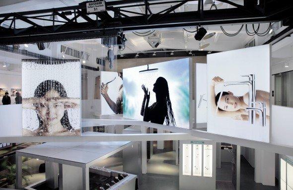 Der Badhersteller Hansgrohe setzt auf ICTs inspire-Lösung in seiner Markenerlebniswelt (Foto: ICT)