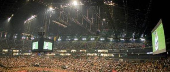 Public Viewing in der LANXESS-Arena zur Fussball EM 2012