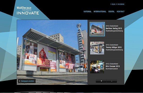 Neue Innovate-Website von Wall (Screenshot: invidis.de)
