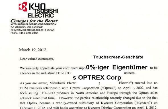 Mitsu-Kyocera: Mitsubishi möchte die bisherigen Optrex-Kunden; Kyocera ebenfalls (Montage: invidis.de)