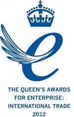 Mit dem Preis - hier die aktuelle Auszeichnung - darf fünf Jahre lang geworben werden (Logo: Queen's Awards for Enterprise)