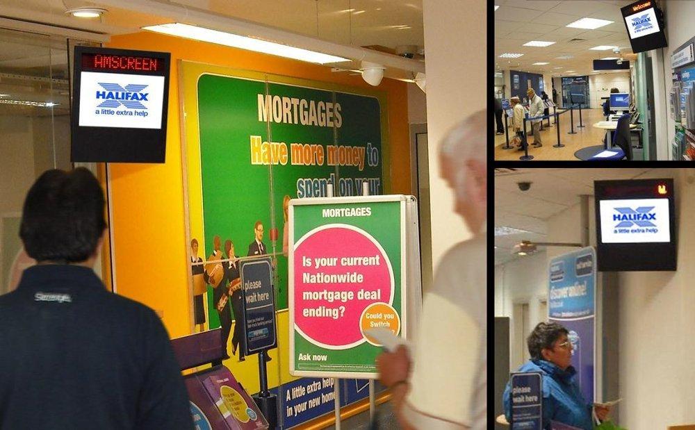 Amscreen installiert Instore TV bei Halifax Bank