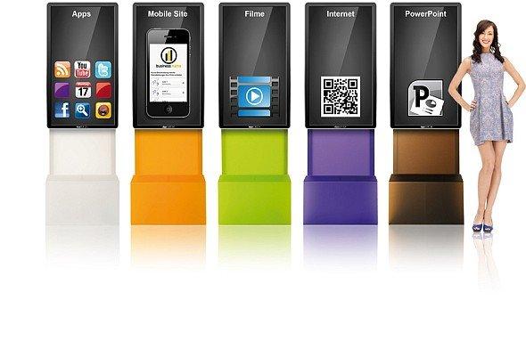 Bunte Integration zweier Welten: Die AppScreens sind ab Mai zu mieten oder kaufen (Screenshot: invidis.de)