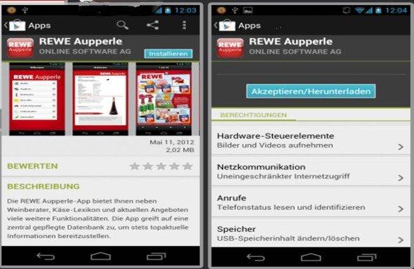 REWE Aupperle setzt als erster Händler die Android-Version ein (Foto: Online Software AG)