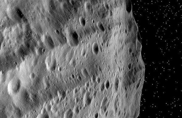Vesta, bloß ein Ateroid - oder doch ein Mond? (Foto:DLR)