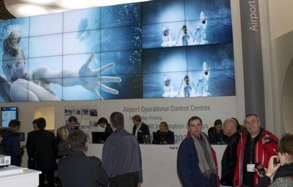 So könnte der Content Showcase auf der Digital Signage Expo aussehen