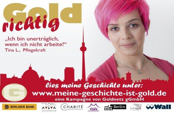 "Motiv der Kampagne ""Goldrichtig"" (Foto: Wall AG)"