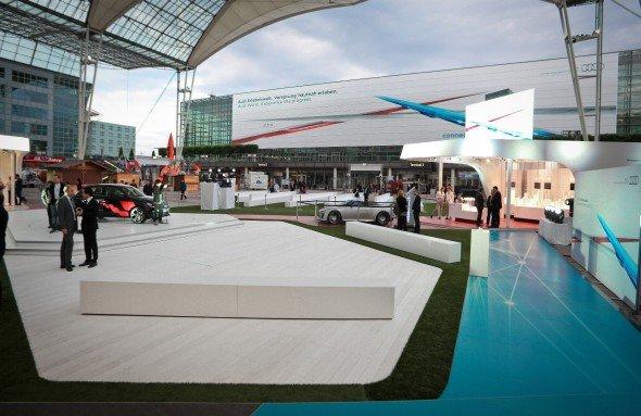 Die VW-Marke Audi nutzt MAC-Forum und Meta Twist Tower für ihre Themenwelten (Foto: Flughafen München)