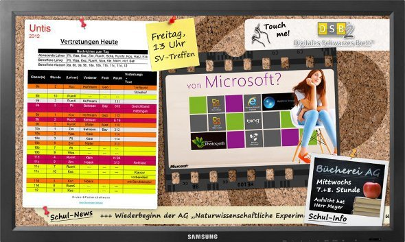 Screenshot DSC und Microsoft Werbung
